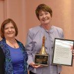 Assistance League member Betty Rothgeb and Mary Ronan, Cincinnati Public Schools superintendent