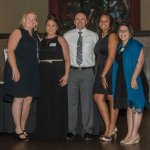 Tricia Raby of Beech Acres, 5-year honorees Beth and Scott Lammers, and Rebecca Hammoor and Jessica Thompson of Beech Acres