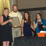 Tricia Raby of Beech Acres, Retiree Award honorees Carey and Lacy Watson, and Jessica Thompson of Beech Acres