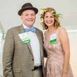Parks Foundation president John Neyer with executive director Jennifer Hafner Spieser