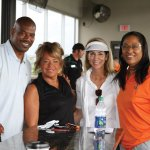 Eric Ball, Cincinnati Bengals; Jeanette Altenau, of TriHealth and a Marvin Lewis Community Fund board member; Stephanie Besl, TriHealth; and Annie Timmons, TriHealth