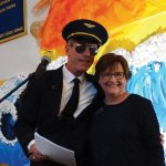 Auctioneer Mike Brown and principal Polly Duplace