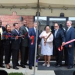Cutting the ribbon at Chapel Street Apartments