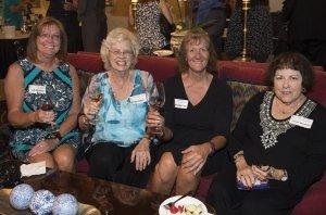 Jill Barlion of Special Olympics, Hamilton County; Emily Hodges, Cincinnati Symphony Club; Sandy Barlion of Special Olympics; and Connie Dreyfoos, Symphony Club