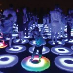 The Pool has been featured at more than 20 national and internationally-based light festivals in eight countries. As visitors enter The Pool and step on the pads, effects of light and color come to life.