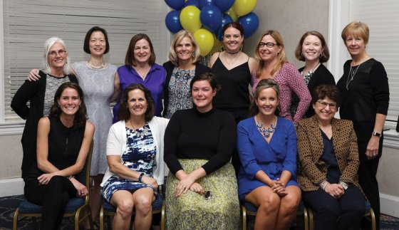 The Impact board: (front) Rhiannon Hoeweler, Donna Broderick, Sarah Grace Mohr, Clare Blankemeyer, Rose Palmieri; (back) Kristen Wevers, Clare O'Brien, Stephanie Tunison, Jenny Berg, Sarah Buckley, Caroline Bieser, Teresa Benson, Mary Beth Young