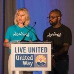 Campaign Kickoff co-chairs Carolyn Micheli of the E.W. Scripps Co. and Derrick Braziel of MORTAR