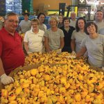 VonLehman volunteers helped clean up ducks from the Rubber Duck Regatta.