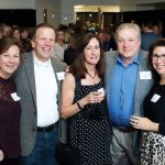 Committee member Kelley Carrier; Dave Carrier; Tamara Behrens; Perry Washburn, who donated cooking classes and dinners that raised thousands of dollars; and board member Carolyn Washburn