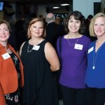 Former board member and previous honoree Tricia Roddy, Tish Jones, Janet Rotsching and Julie Strotman