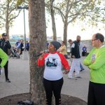 Brain tumor survivor Billi Ewing sang the national anthem at the event.
