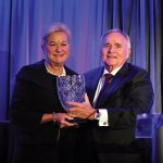 Honoree Kay Geiger and Corporex CEO Bill Butler