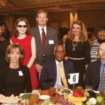(Back) Honoree Rosemary Oglesby-Henry, honoree Heather Konerman, David Konerman, Tracy Wells, Gloria Ogelsby; (front) Beverly Konerman, John Lomax, Jason Pinson
