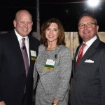 """Chris and Deanna Froman, Centennial Society co-chairs, with Gary T. """"Doc"""" Huffman, United Way's 2017 campaign chair"""