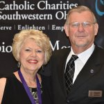 Honoree Patti Alderson with board chair Dave Bruno
