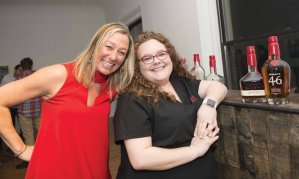 Christy Commerton and Jacklyn Evans, of sponsor Makers Mark, which hosted a bourbon tasting