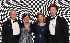 Courtney Rossmann and Pam Rossmann, corporate sponsors, Kelly Kruse and Jeff Kruse