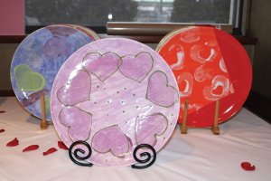 Plates made by adults with disabilities in Stepping Stones programs