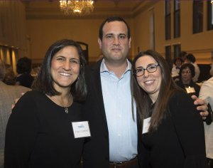 Committee member Fran Coleman, Avshi Weinstein and Sarah Weiss