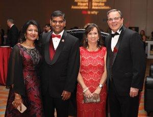Co-chairs Subhadra Suresh, Dr. DP Suresh, Susan Colvin and Garren Colvin