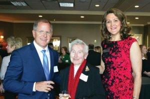 Kris Knochelmann, Kenton County judge executive, with Sister Janet Bucher and Kim M. Webb
