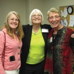 Mary Francis and Francie Wolgin, both of Interact for Health, with Diana Klinedinst