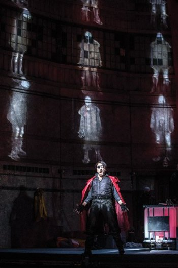 """Cincinnati Opera's new production of """"The Flying Dutchman"""" (Pictured: Wayne Tigges as the Dutchman in the production at The Atlanta Opera.)"""