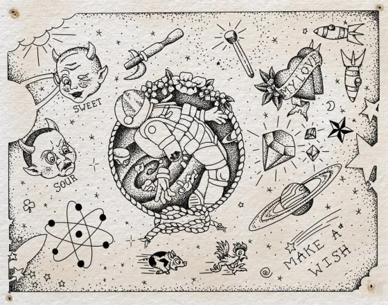 "Flash sheet, ""Kaleidoscope,"" by Steven Mast, inspired by the Ray Bradbury short story of the same name."