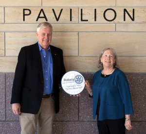 Event chair Fred Fischer with auction chair Susan Wilkinson  Credit: Photo by John Fahrmeier