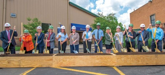 Groundbreaking ceremony at DePaul Cristo Rey High School