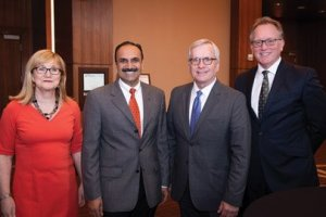 Kathy Selker, Dr. Apruva Mehta, Dr. James Maher and Mark Wittee