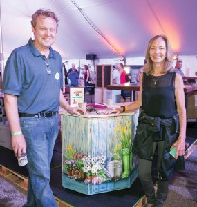 Committee member Dave Rickerd with Barbara Scull, board member and ReUse-apalooza committee chair