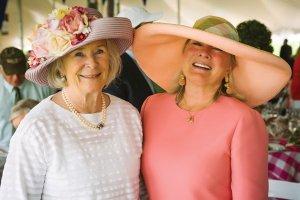 Hats Off Luncheon founding co-chairs Helen Heekin and Debbie Oliver