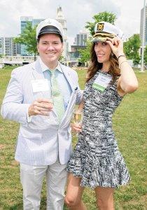 Dave Sanders and volunteer Shadia Haddad