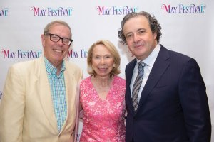 William Taylor, May Festival board member Mary Ann Taylor and principal conductor Juanjo Mena