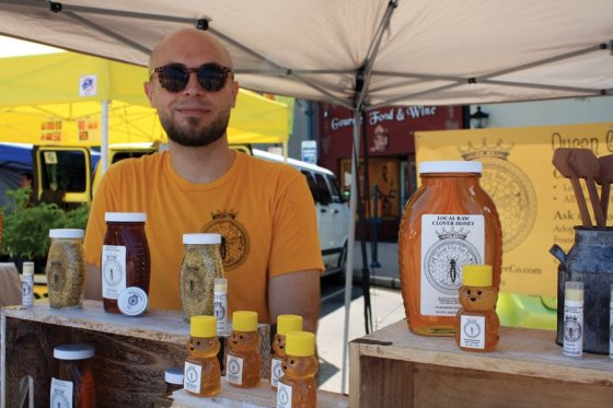 Hyde Park Farmers' Market - Jeff Richardson is one of the beekeepers at Queen City Bee Company, offering a range of raw local and Florida honey and bee pollen, plus natural handcrafted bee-based body and home products.