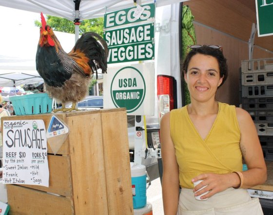 Hyde Park Farmers' Market - The Bell family of Elmwood Stock Farm (Georgetown, Kentucky) has been farming for over six generations and are committed to the healthy and wholesome production of fresh farm meats, eggs, and organic fruits and vegetables.