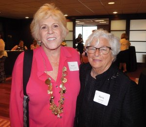 GCF Women of the Year Past honorees Susan Abernathy Frank (2011) and Marie Huenefeld (1998)