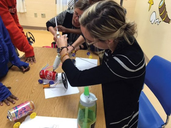Rosa Nemec, a GE design engineer, leads the Year of the Girl program, introducing fourth- and sixth-grade girls to STEM-related fields using fun projects.