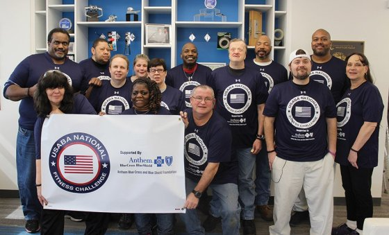 "National Fitness Challenge participants: (Back) Chris Windham, Jeffrey Tolliver, Dave Perry, April McKinney, Mary Ann Donelan, Jerome Harden, Mike Breeden, Pierre McDonald and Joseph Clements; (front) Paula Grubbs, Angela Taylor, Phillip ""Scott"" Hogan, Anthony Steele and Deb Cook"