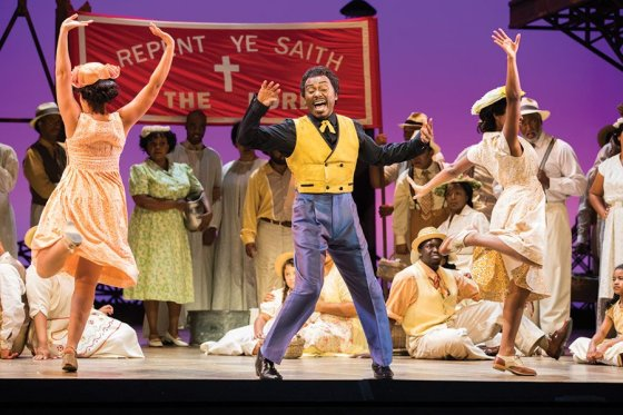"Scene from the Seattle Opera production of ""Porgy and Bess"""