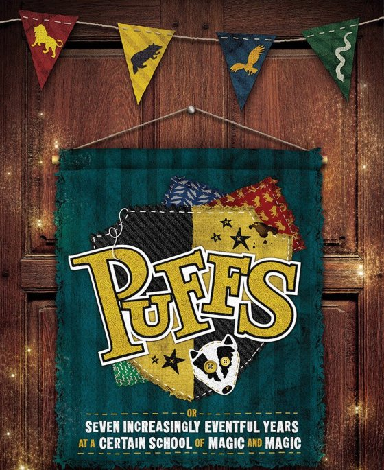 """Promotional image for the Know Theatre's production of """"Puffs"""""""