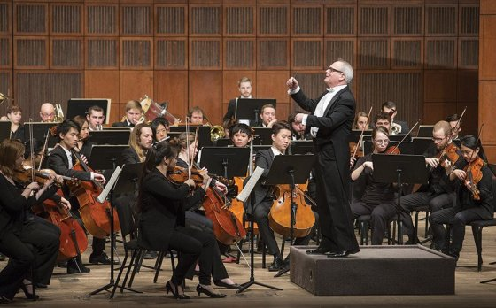 Mark Gibson conducts the CCM Philharmonia