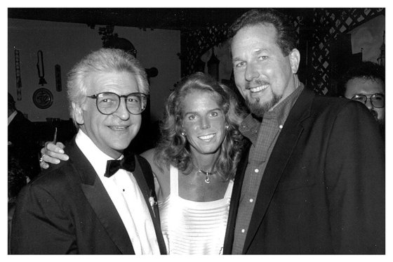 Patty Beggs with former Cincinnati Opera artistic director James de Blasis and legendary bass-baritone James Morris