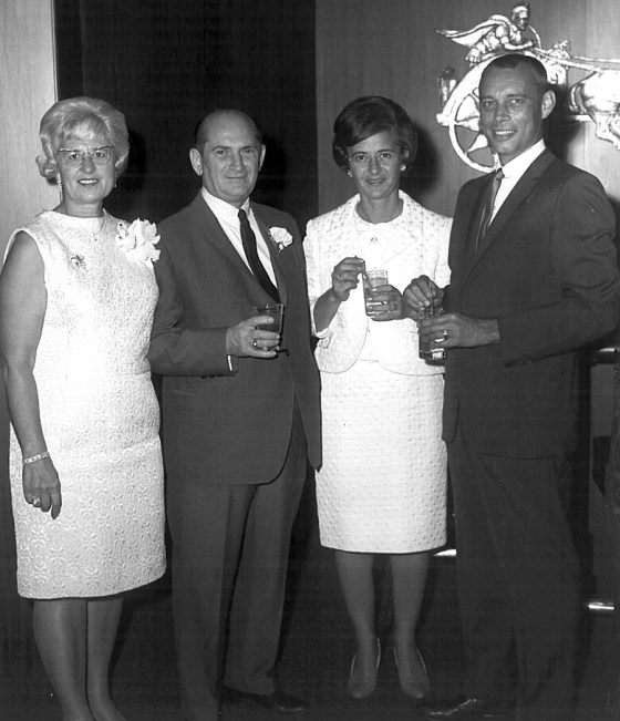 Annette and Dave Frisch (Blanche's parents), with Blanche and Jack in the early 1960s