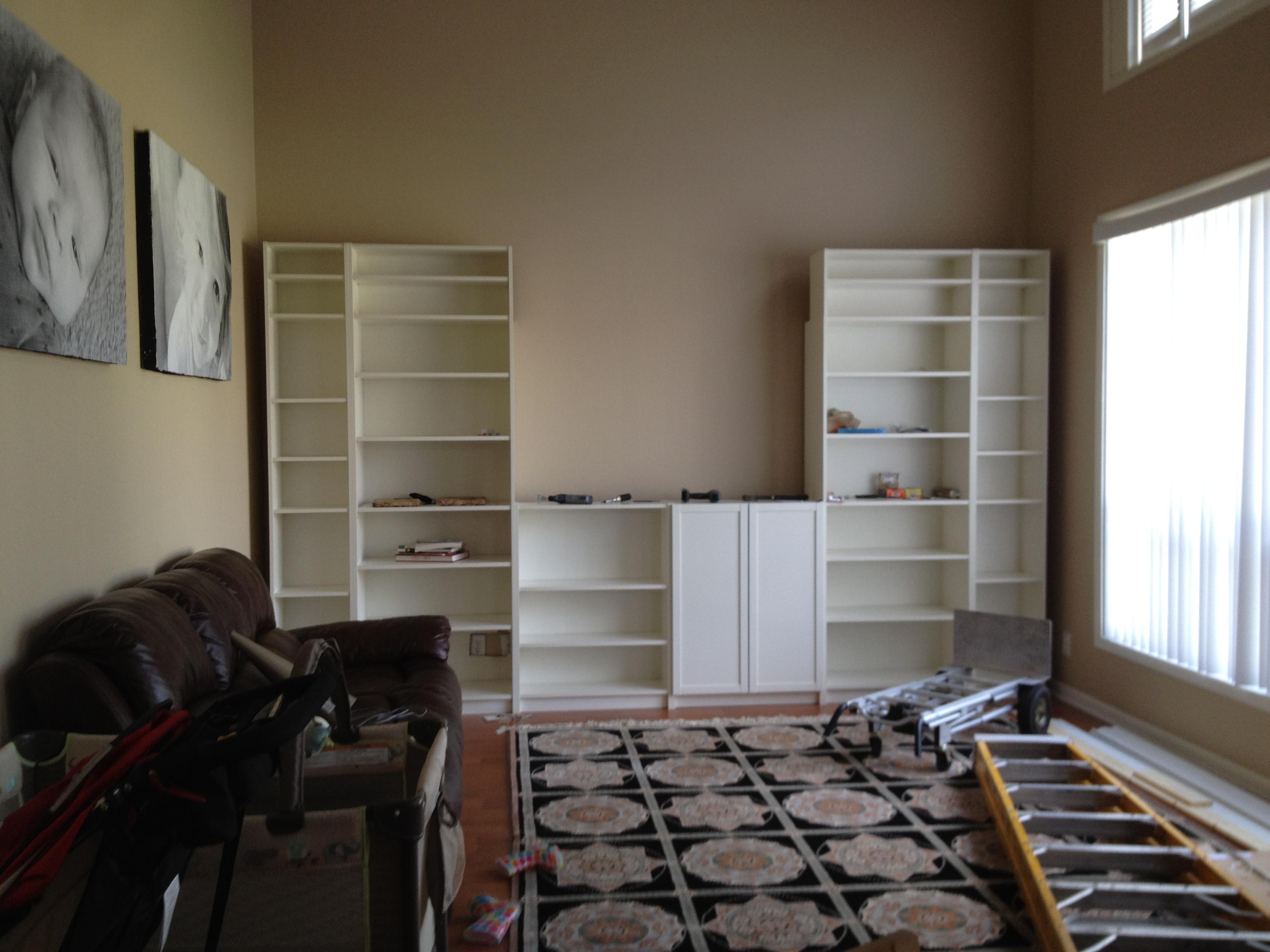 Diy Built In Bookshelves Moves Like Martha