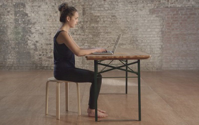 How to sit at a desk ...