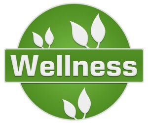 Wellness Green Circle Leaves