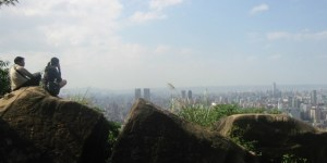Taipei from mountain top