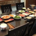 dinner table in Taiwan